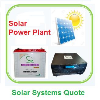 Solar Power Plant Quote